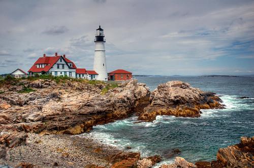 lighthouse maine tm phl portlandheadlight capeelizabeth photomatix tonemap bdp:lighthouse=phl bdp:places=maine