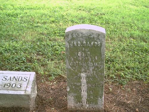 union iowa hobby civilwarveteran elmwoodcemetery coffeyvillekansas johnsands tombstonephoto cok40thiainfantry kansasvirtualcivilwarveterancemetery