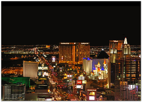 Las Vegas Strip View Panorama