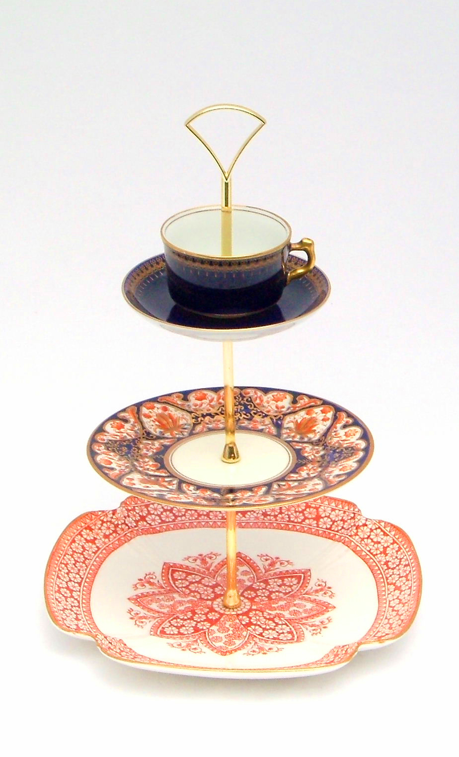 Square China Tier Cake Stands Ainsley China