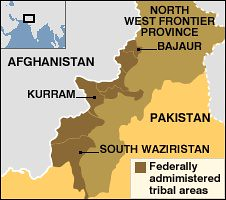 Map of region where the United States and NATO have carried out incursions into Pakistani territory. Pakistan military forces have fired on US helicopters on Sept. 15, 2008. by Pan-African News Wire File Photos