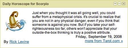 google horoscope