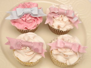 Cupcakes with Ribbons for High Tea Party