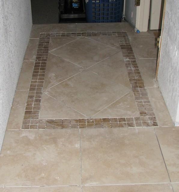Home Remodel Sept 19 2008 - Area Rug Tile Pattern
