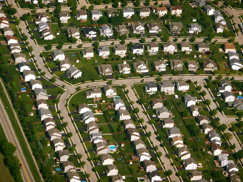 Photo:Chicago suburbs from the air By:Scorpions and Centaurs