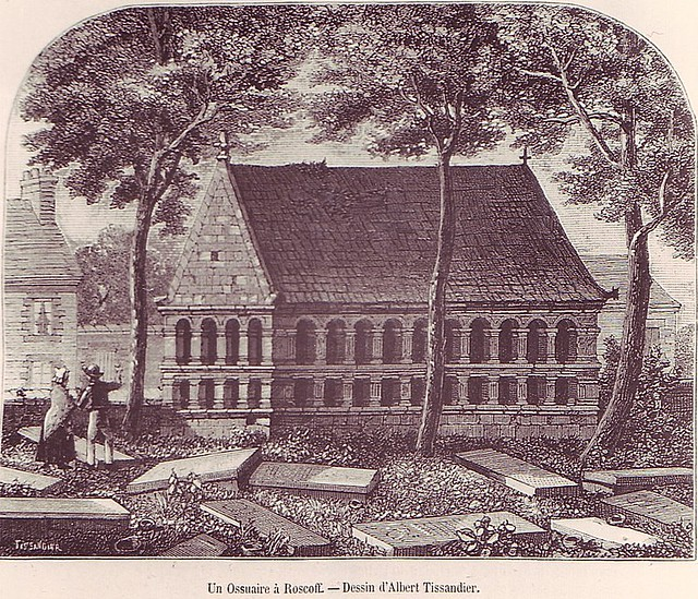 Roscoff - Gravure de l'ossuaire