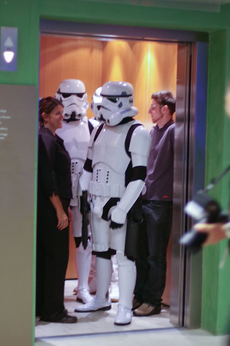 Stormtroopers in the lift