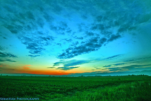 blue sunset sky cloud sun green grass clouds skyscape photography photo sebastian romania abigfave