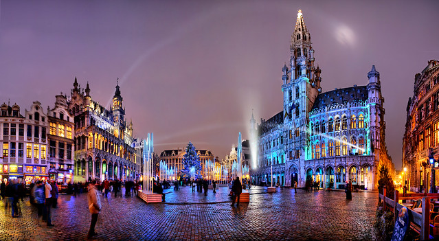 Great Market ready for Christmas, Brussels, Belgium