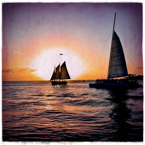 ocean sunset shadow vacation sun texture water sailboat square keys geotagged boat florida dusk border sail caribbean keywest floridakeys mywinners geo:lat=24561029 geo:lon=81807504