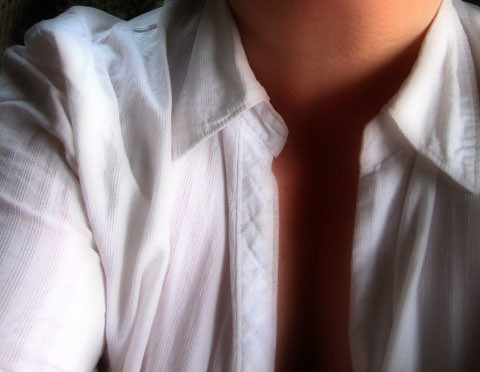 white shirt, Sunday evening