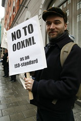 Demonstration against OOXML