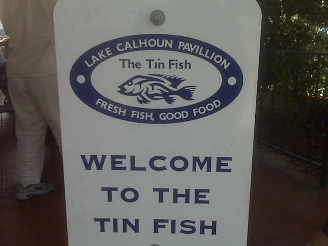 The tin fish at lake calhoun flickr photo sharing for Tin fish restaurant