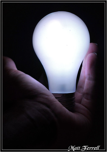 Unscrewed light bulb still glows