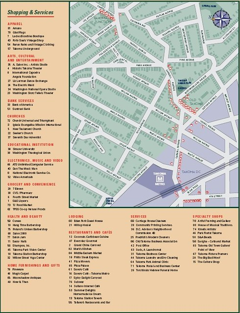 Takoma Park directory map