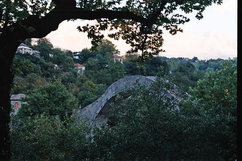 Plaka bridge and village