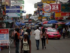 The hustle and bustle of Khaosan Road.