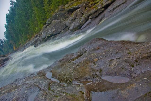 Nanaimo River, looking downstream