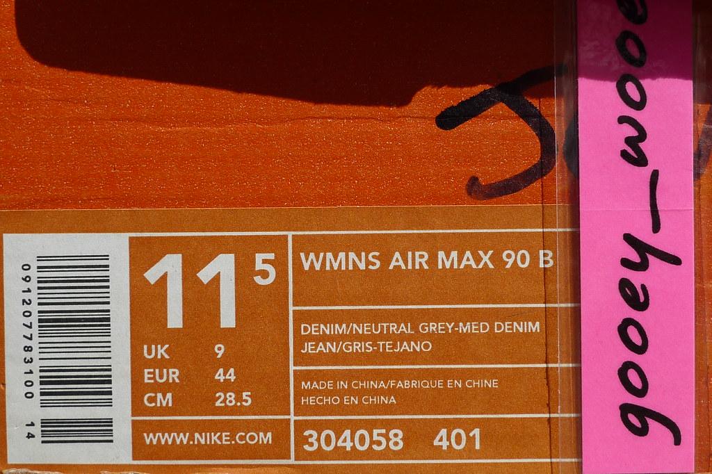 newest 8f0ab 4a6ab Nike Wmns Air Max 90 B  Courir  Denim ( 02).