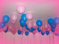 purple, balloon, blue, pink,