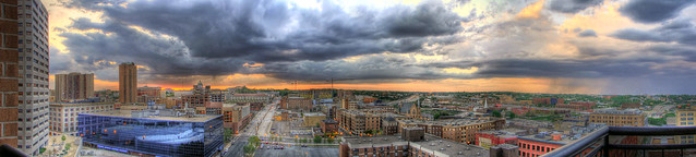 Rain to the East   - Panorama of St. Paul, MN