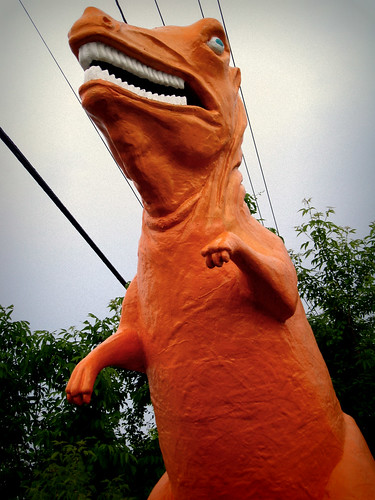 Orange Mini Golf Dino