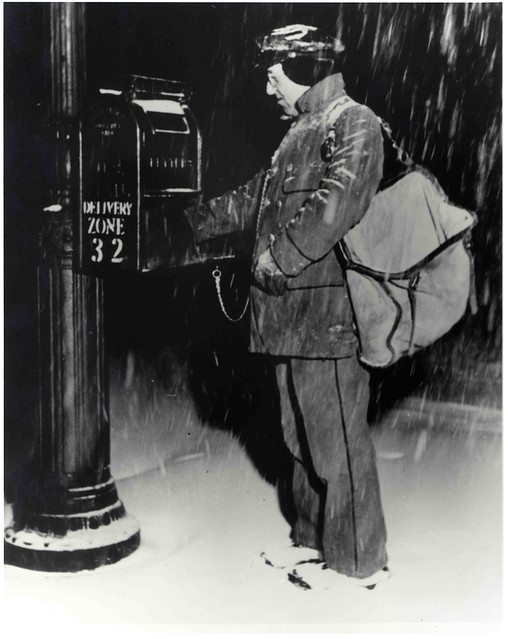 Letter Carrier in Snow