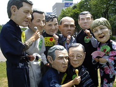 The Oxfam G8 Big Heads Do Karaoke