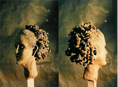 earthenware clay head by Tiffany Gholar