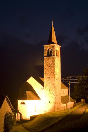 night nuit nacht tessin ticino alpes alpen alps suisse schwe schweiz switzerland church eglise kirche old vieux alt longexposure sobrio