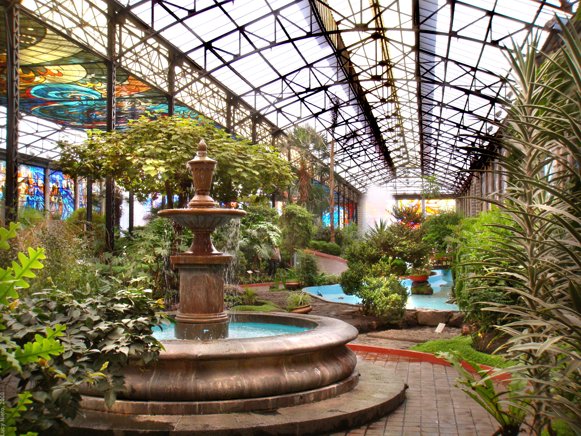 Cosmovitral jard n bot nico vista geneal toluca m xi for Botanico jardin