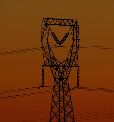 sunset red color tower electric power line ochre distribution betterthangood