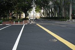 asphalt, sidewalk, highway, traffic, road, lane, residential area, city, downtown, road surface, street, infrastructure, tarmac, pedestrian crossing, intersection,