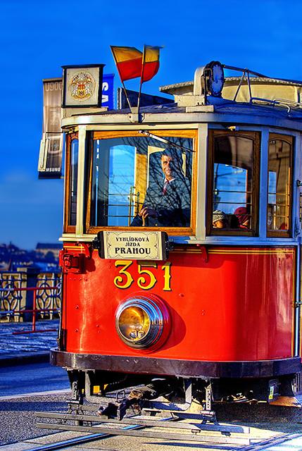 old tram prague street - photo #20