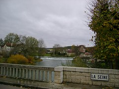 Sein river - 100km from Paris. Champagne region