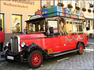 Christmas Bus, Rothenburg ob der Tauber, Germany