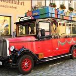 Christmas Bus, Rothenburg ob der Tauber, Germany