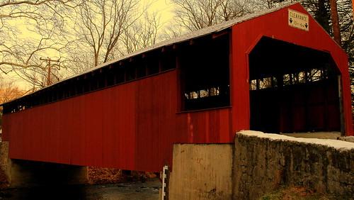 bridge red landscape fantastic scenery pennsylvania bridges coveredbridge coveredbridges bestlandscape smallbridge fantasticlandscape pennsylvaniacoveredbridges littlegappa thebestscenery landscapedigitalphotography