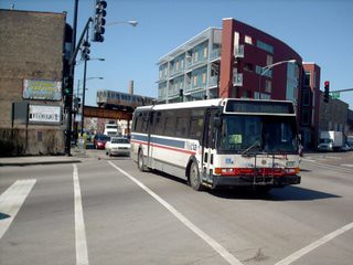 Eastbound CTA bus at the intersection of North Milwaukee Avenue and West Armitage Street. Chicago Illinois. March 2007. by Eddie from Chicago