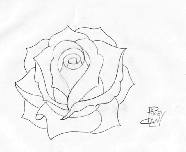 rose pencil sketch 4 |...
