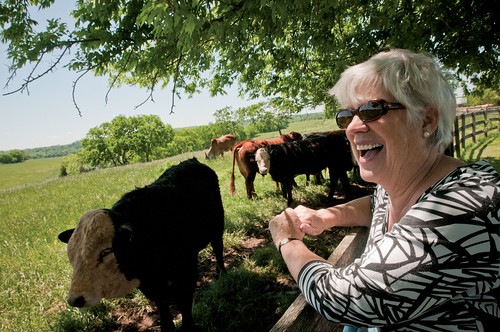 Rossie Fisher, co-owner of Brookview Farm in Manakin-Sabot, VA. March 8 is International Women's Day.