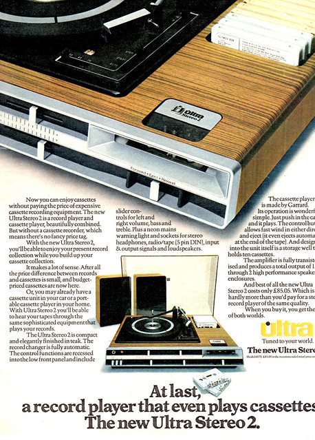 Advert for the new Ultra Stereo 2 c.1975