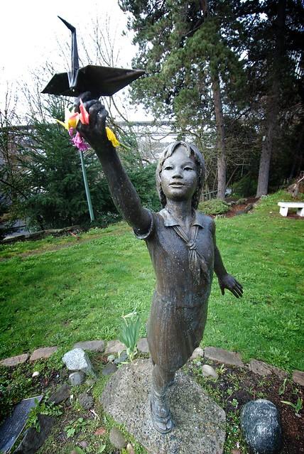Statue Of Sadako Sasaki In Seattle Peace Park Flickr Photo Sharing