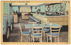 Interior of Valerie's, at Ogunquit, Maine
