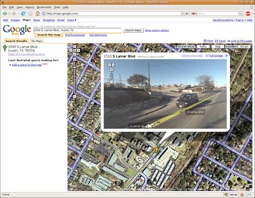 "Google Maps - Austin ""Street View"""