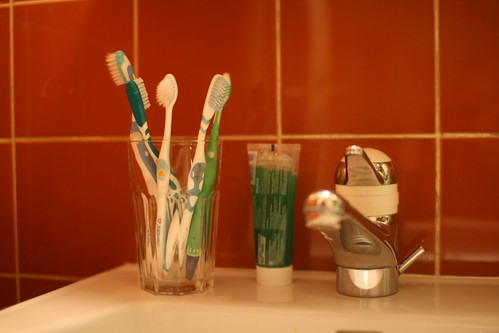 Tooth brushes from co-workers