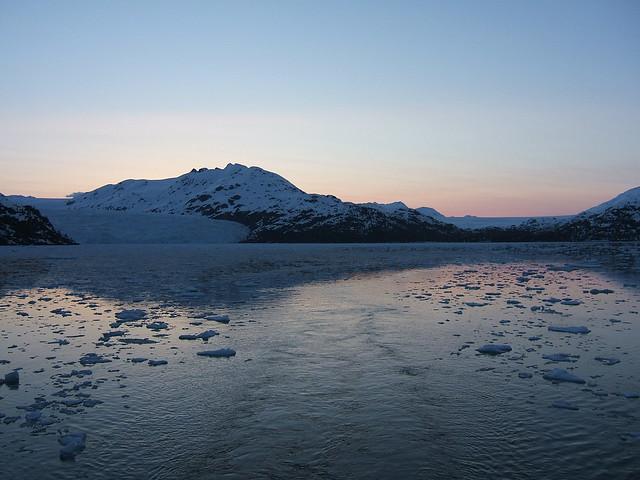 Sunset in Nassau Fjord
