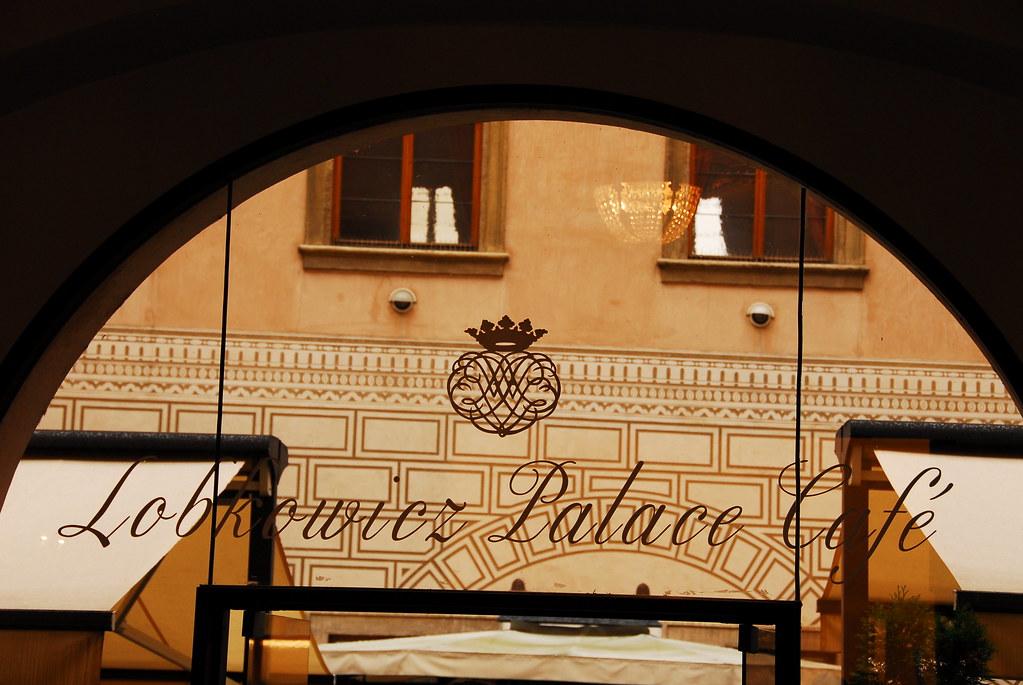 lobkowicz palace entrance and café