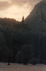 Europe 1996 r5 03 Germany, Neuschwanstein Castle seen from a distance by Chris Devers