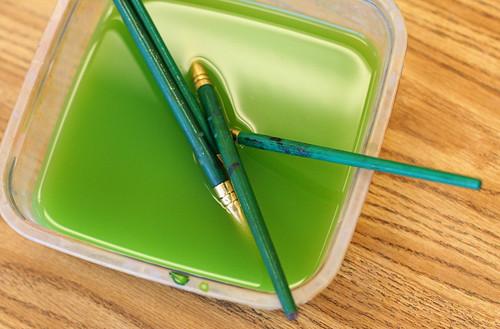 art at stark kindergarten makes the color green. Black Bedroom Furniture Sets. Home Design Ideas